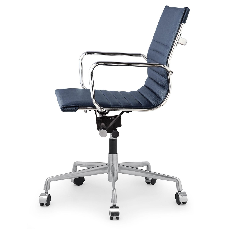 Meelano Office Chair In Vegan Leather - Orange - image-2