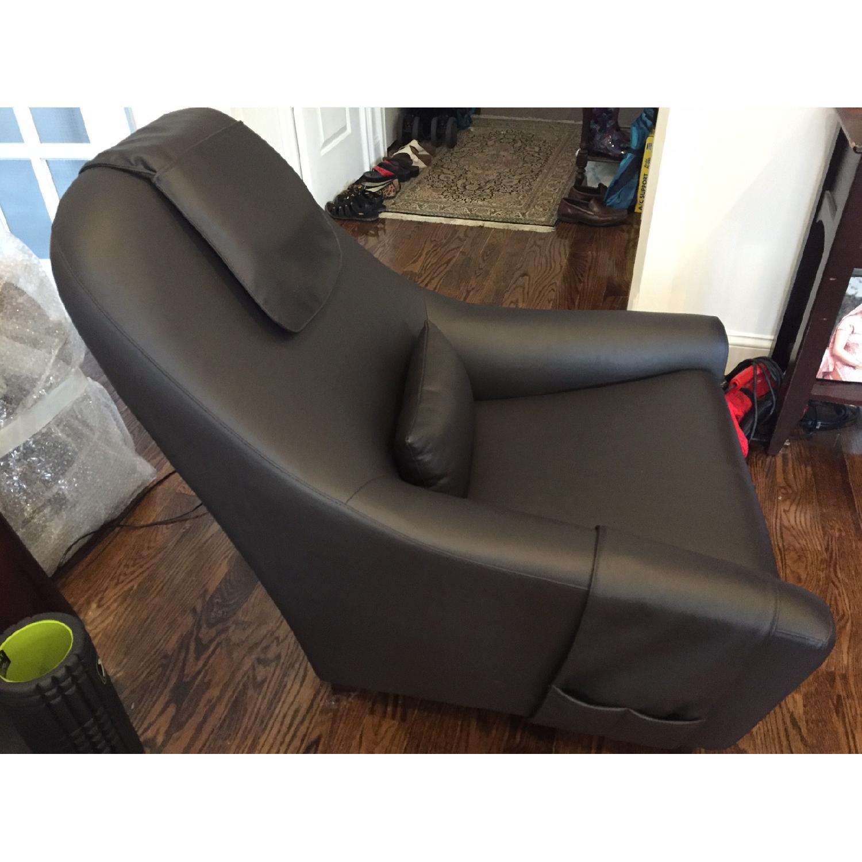 Dark Chocolate Leather Armchair - image-3