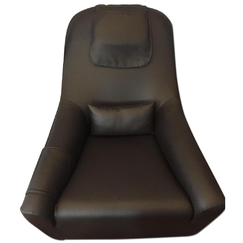 Dark Chocolate Leather Armchair - image-0