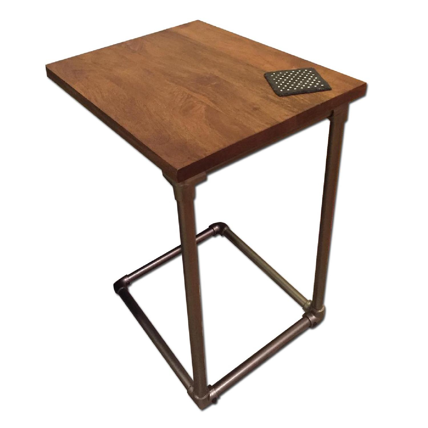 West Elm Pipe Side C-Table - image-0