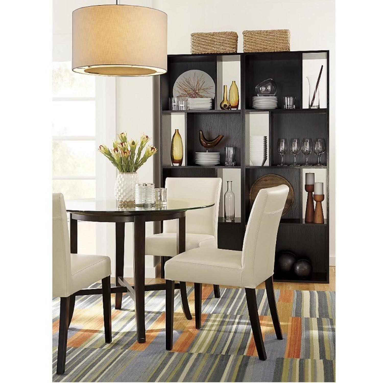 Crate & Barrel Glass Halo Dining Table - image-4