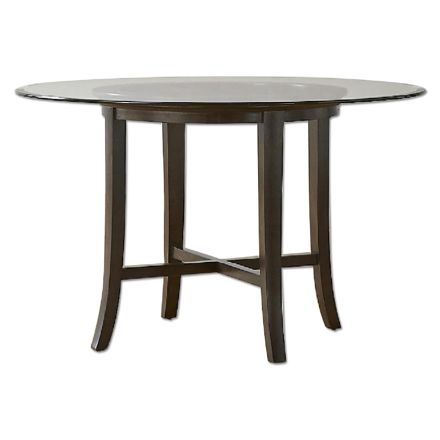 Crate & Barrel Glass Halo Dining Table - image-0