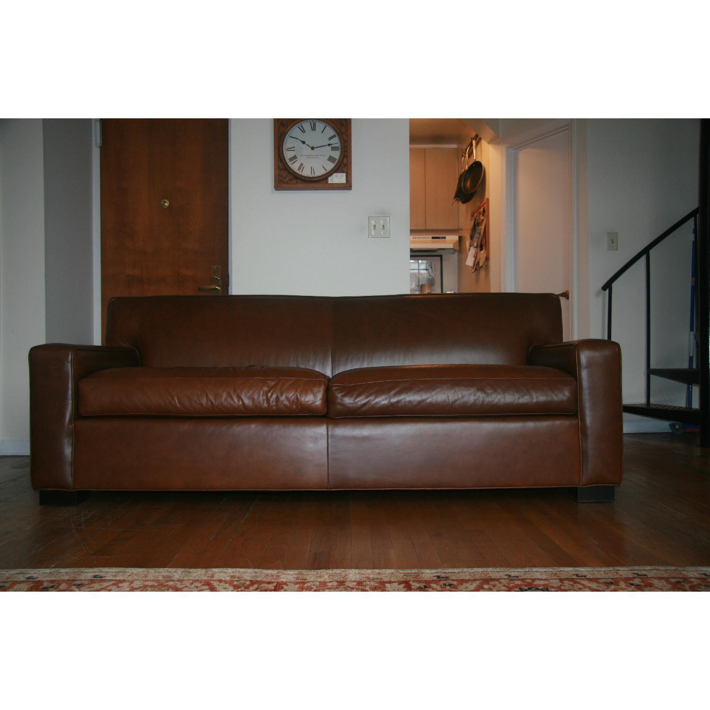 Mitchell Gold + Bob Williams Claude Leather Sofa - image-1