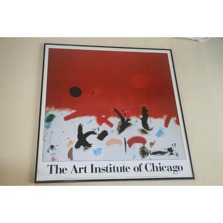 Art Insitute of Chicago Vintage Framed Poster - image-1