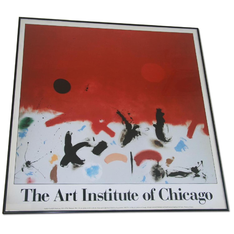 Art Insitute of Chicago Vintage Framed Poster - image-0