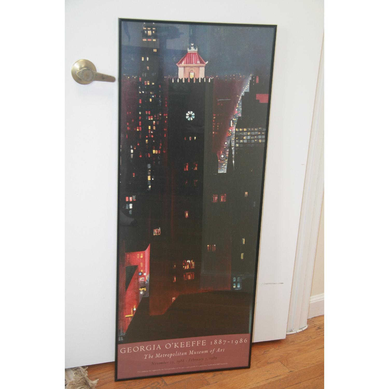 Vintage Georgia O'Keef Moma Glass Framed Poster - image-2