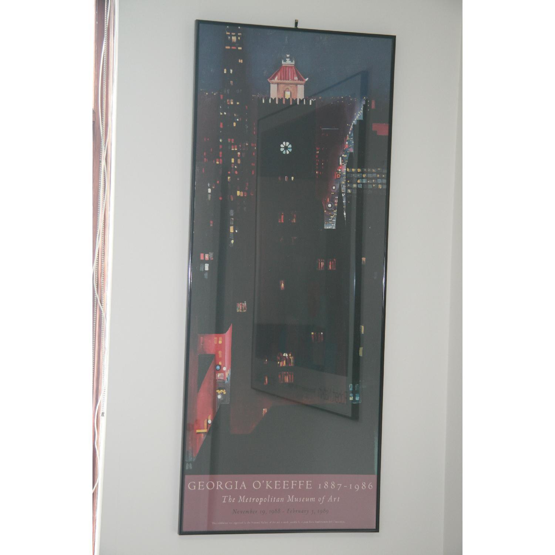 Vintage Georgia O'Keef Moma Glass Framed Poster - image-3