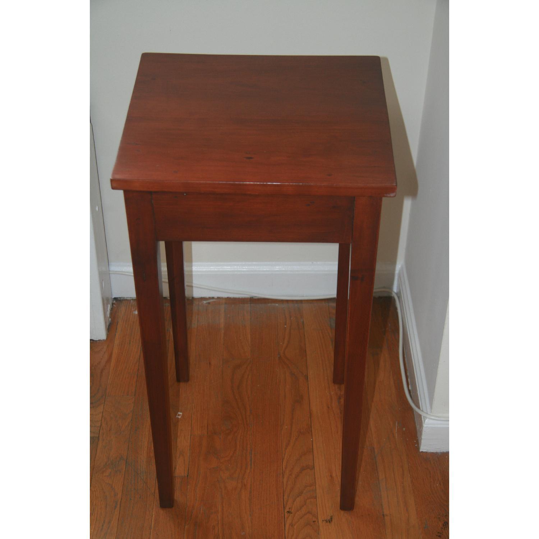 Antique Solid Cherry Stand w/ Hepplewhite Legs - image-1