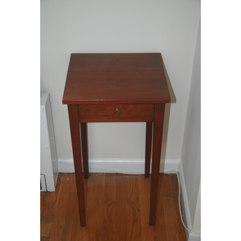 Antique Solid Cherry Stand w/ Hepplewhite Legs - image-2
