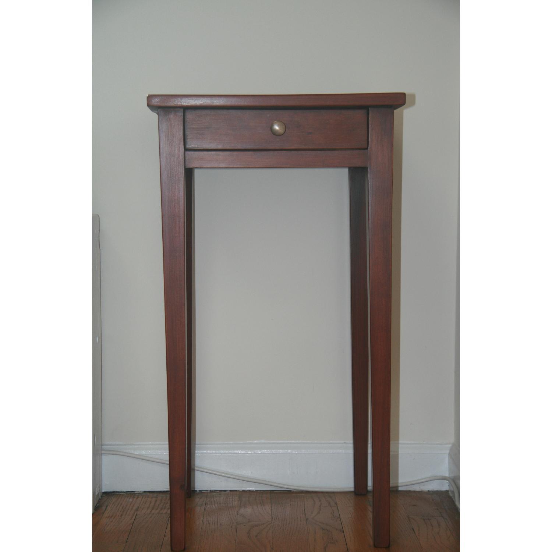 Antique Solid Cherry Stand w/ Hepplewhite Legs - image-3