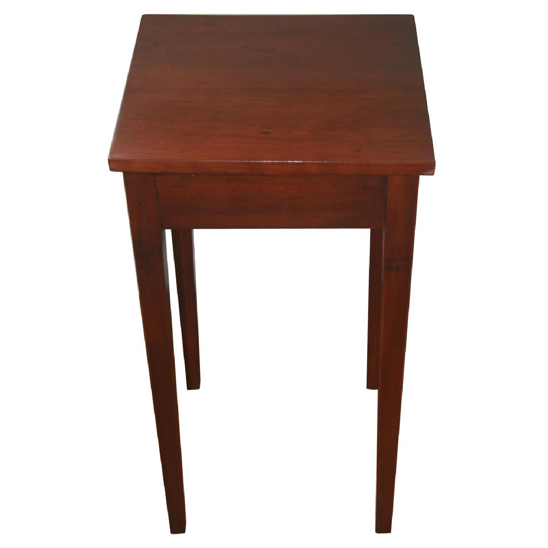 Antique Solid Cherry Stand w/ Hepplewhite Legs - image-0