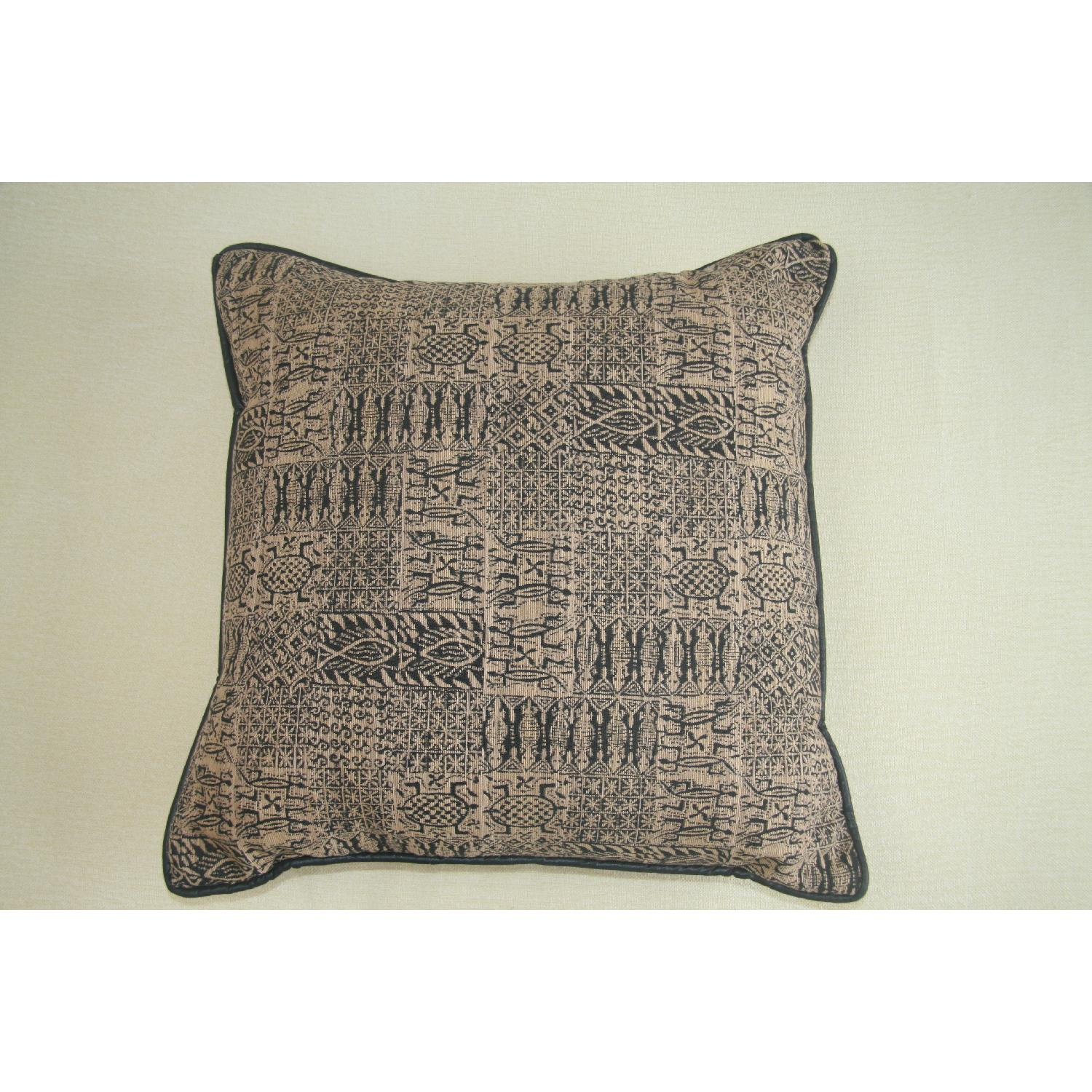 Large Pillows In Black & Gold Print - 2 Available - image-1