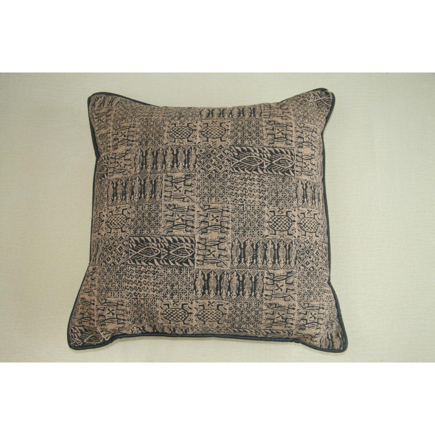 Large Pillows In Black & Gold Print - 2 Available - image-3