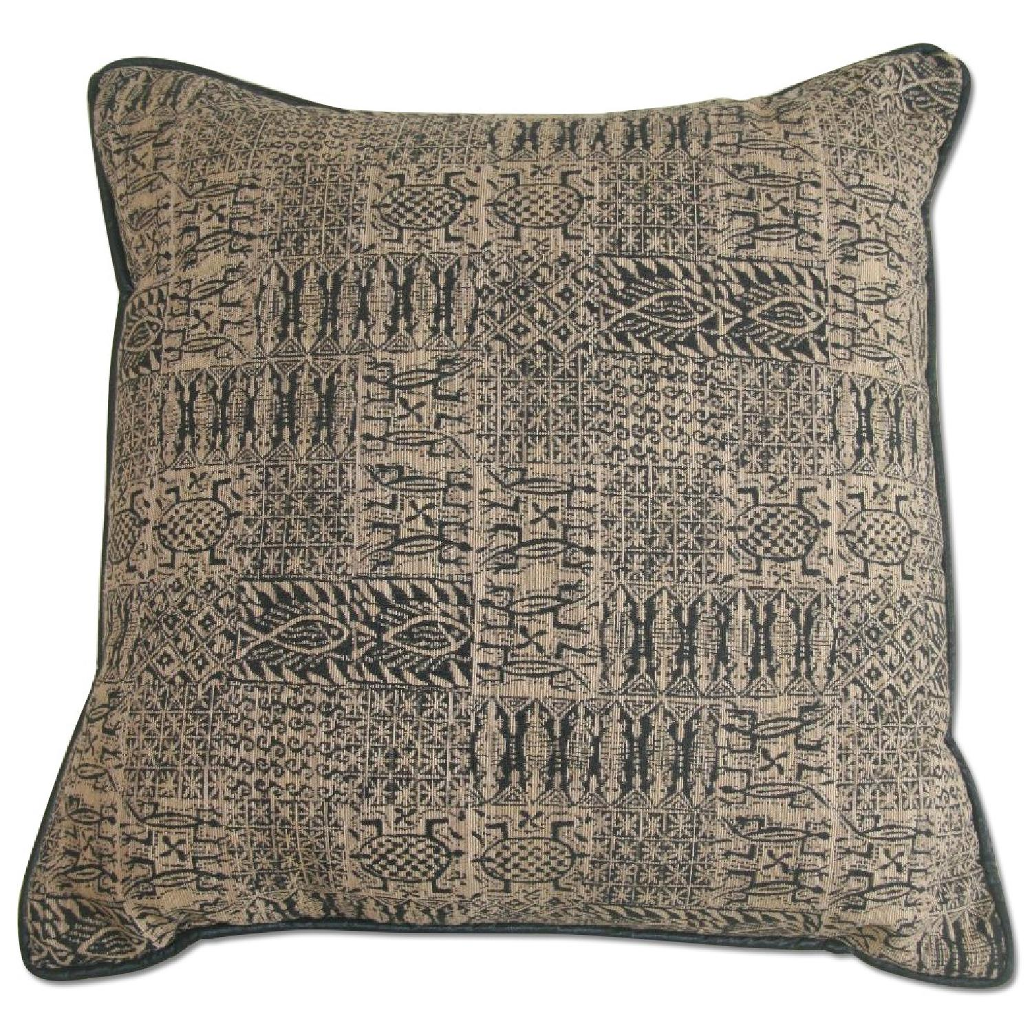Large Pillows In Black & Gold Print - 2 Available - image-0
