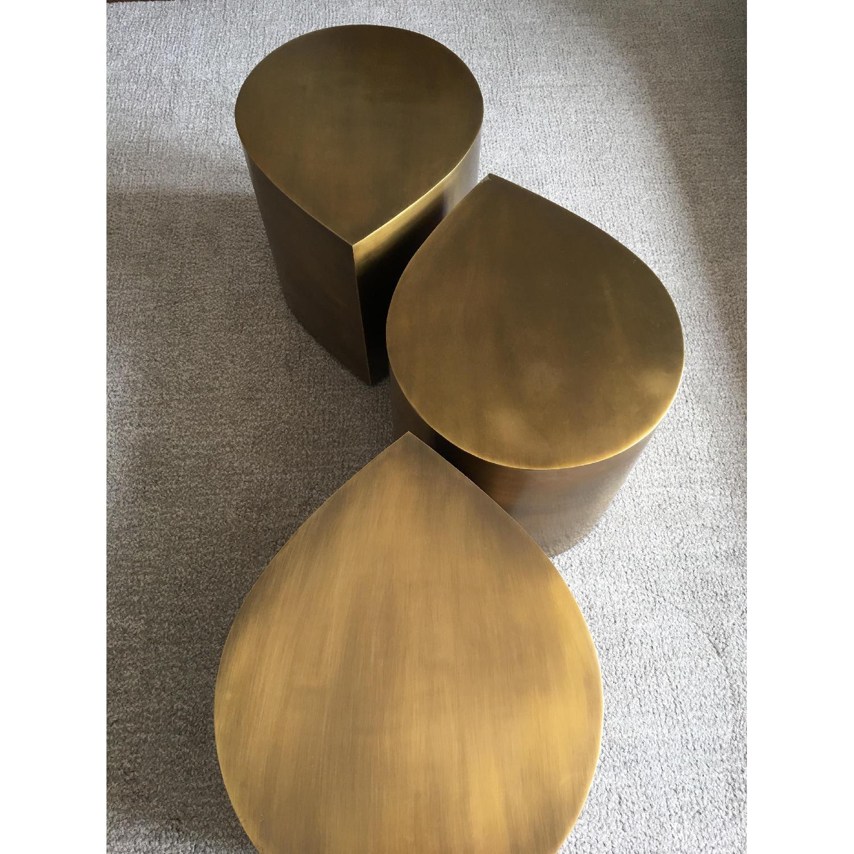 Jonathan Adler Brass Teardrop Tables - image-3
