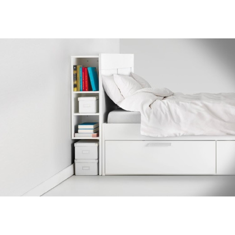 Ikea Queen Size Bed w/ Storage & Storage Headboard - image-2