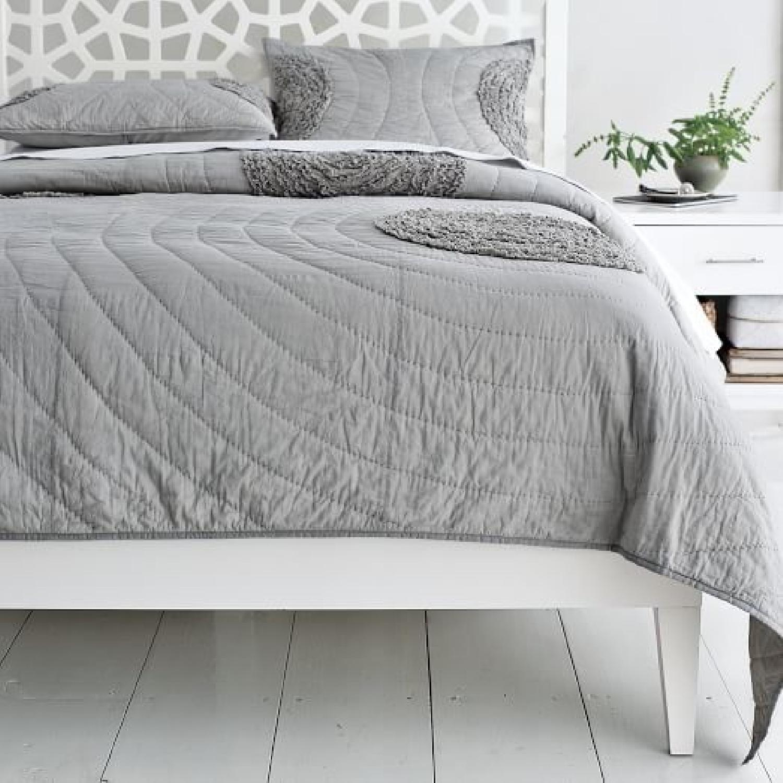 West Elm Narrow Leg King Size Bed - image-3