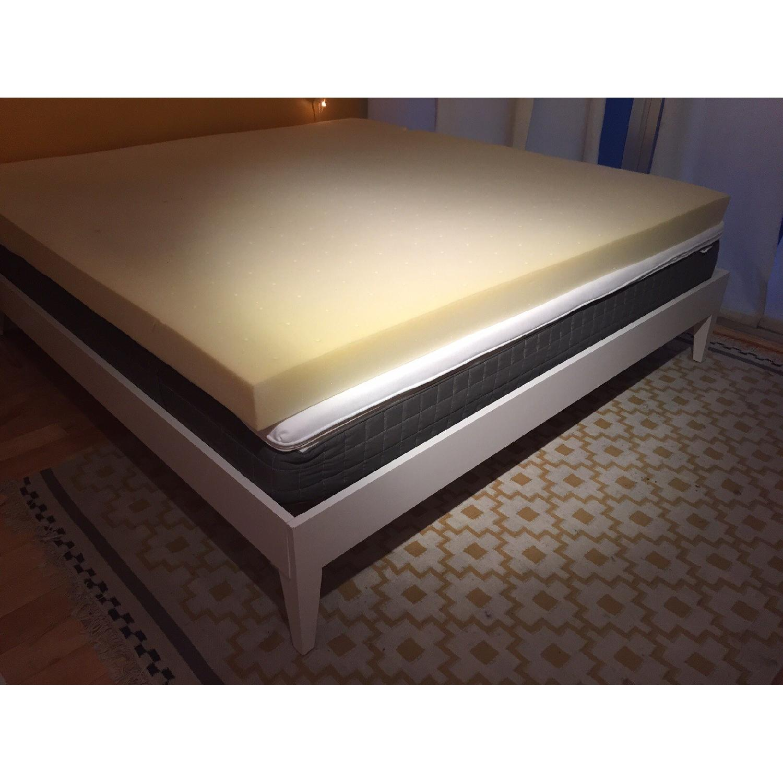 West Elm Narrow Leg King Size Bed - image-7
