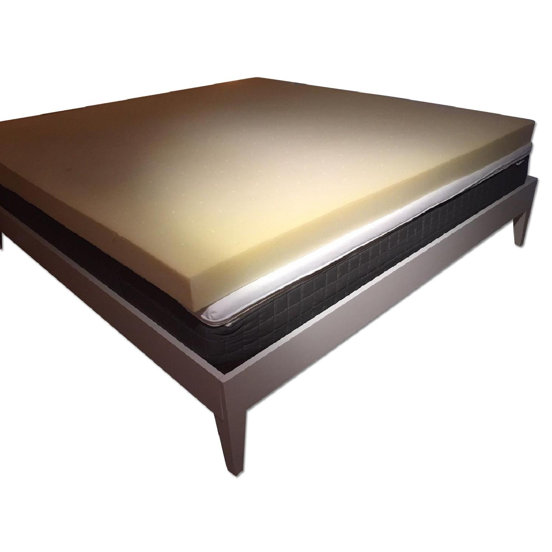 West Elm Narrow Leg King Size Bed - image-0