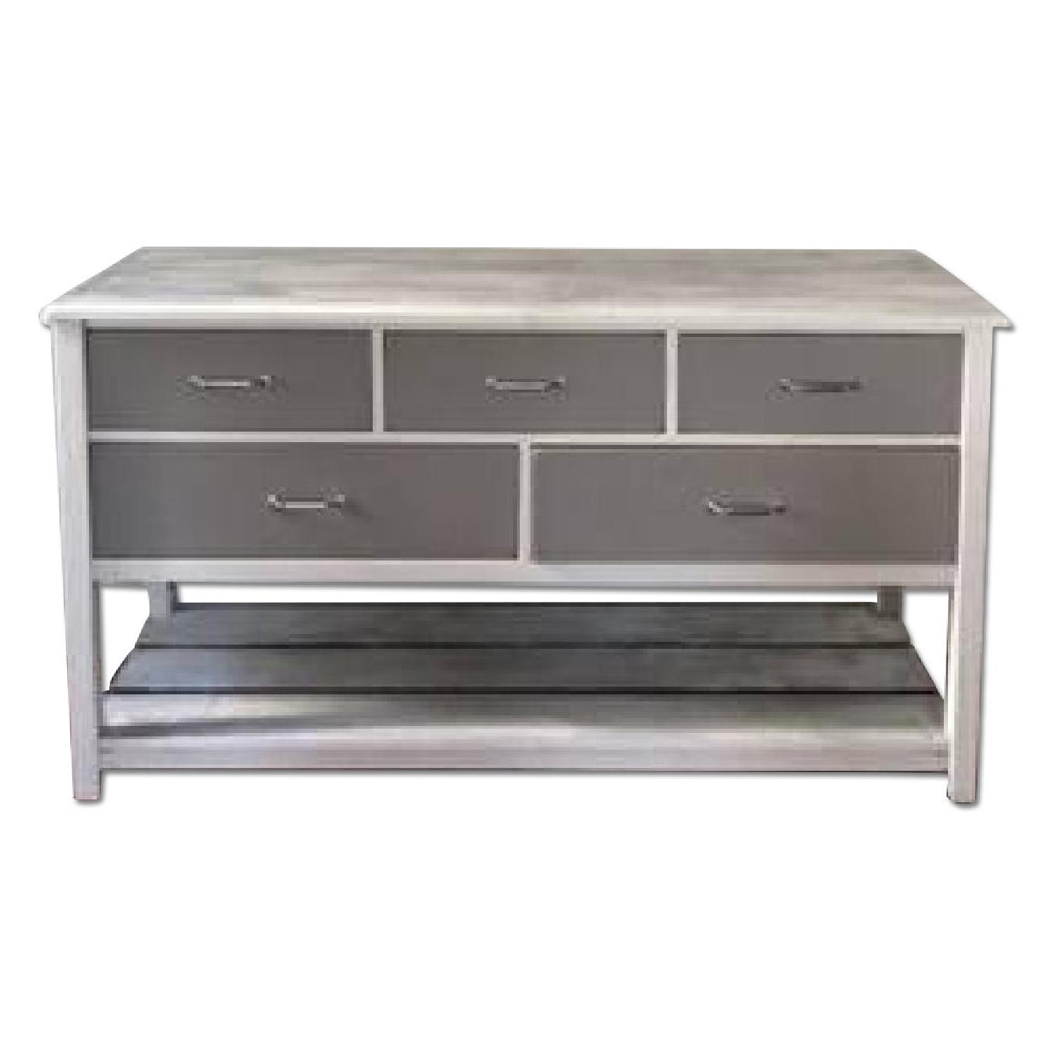 White & Gray Dining Room Sideboard - image-0