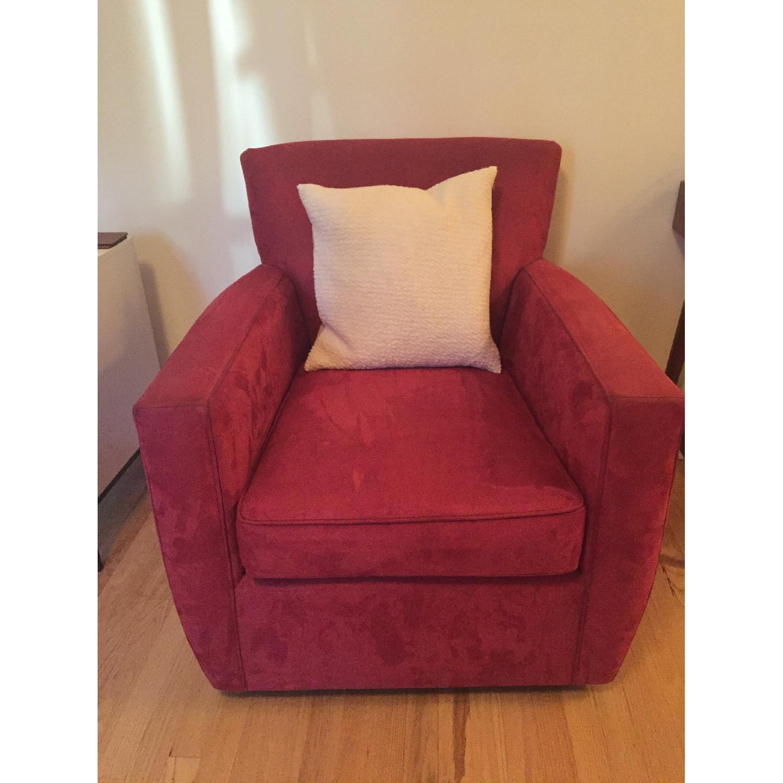 Crate & Barrel Streeter Swivel Chair - image-4