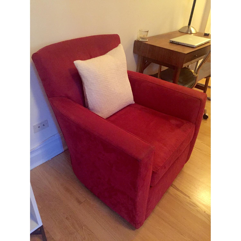 Crate & Barrel Streeter Swivel Chair - image-6