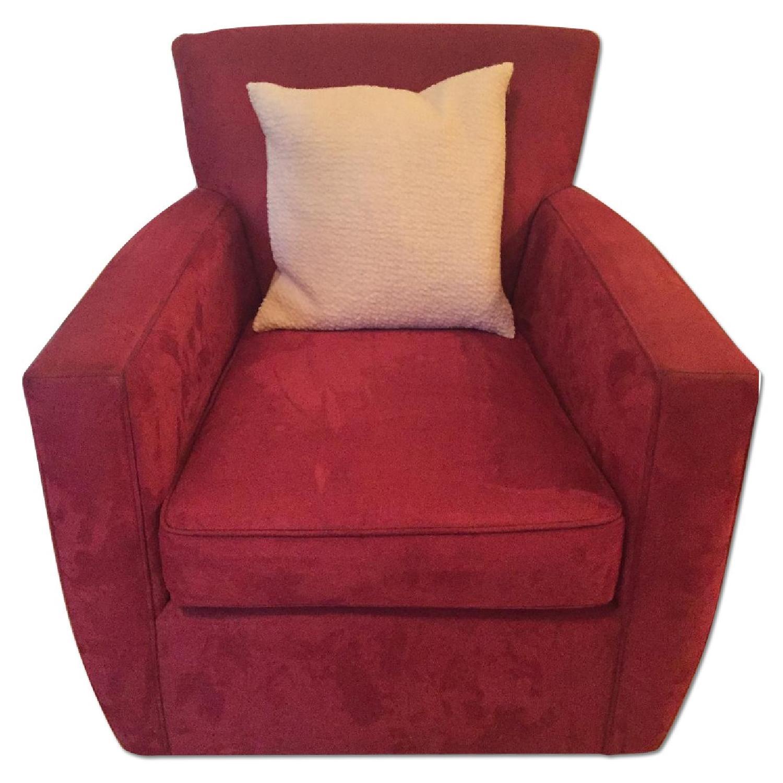 Crate & Barrel Streeter Swivel Chair - image-0