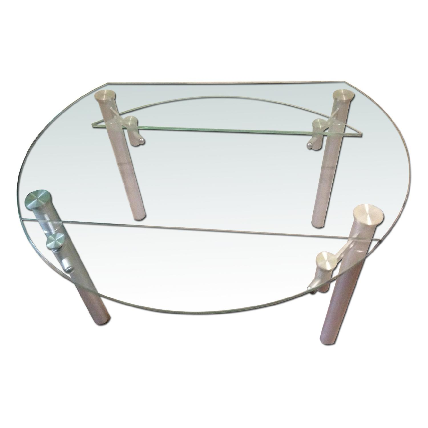 Actona Company Palermo Glass Dining Table w/ 2 Chairs + 2 Stools - image-0