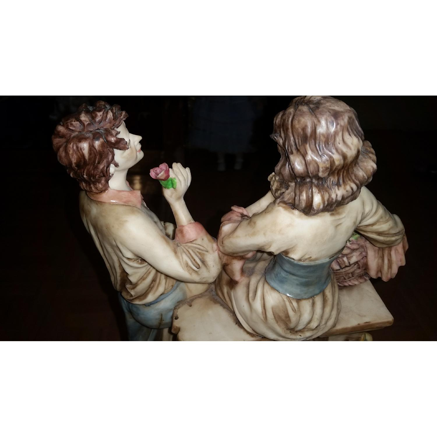 Vintage Serie Valentino by Miriam Couple in Love Sculpture Figurine - image-6