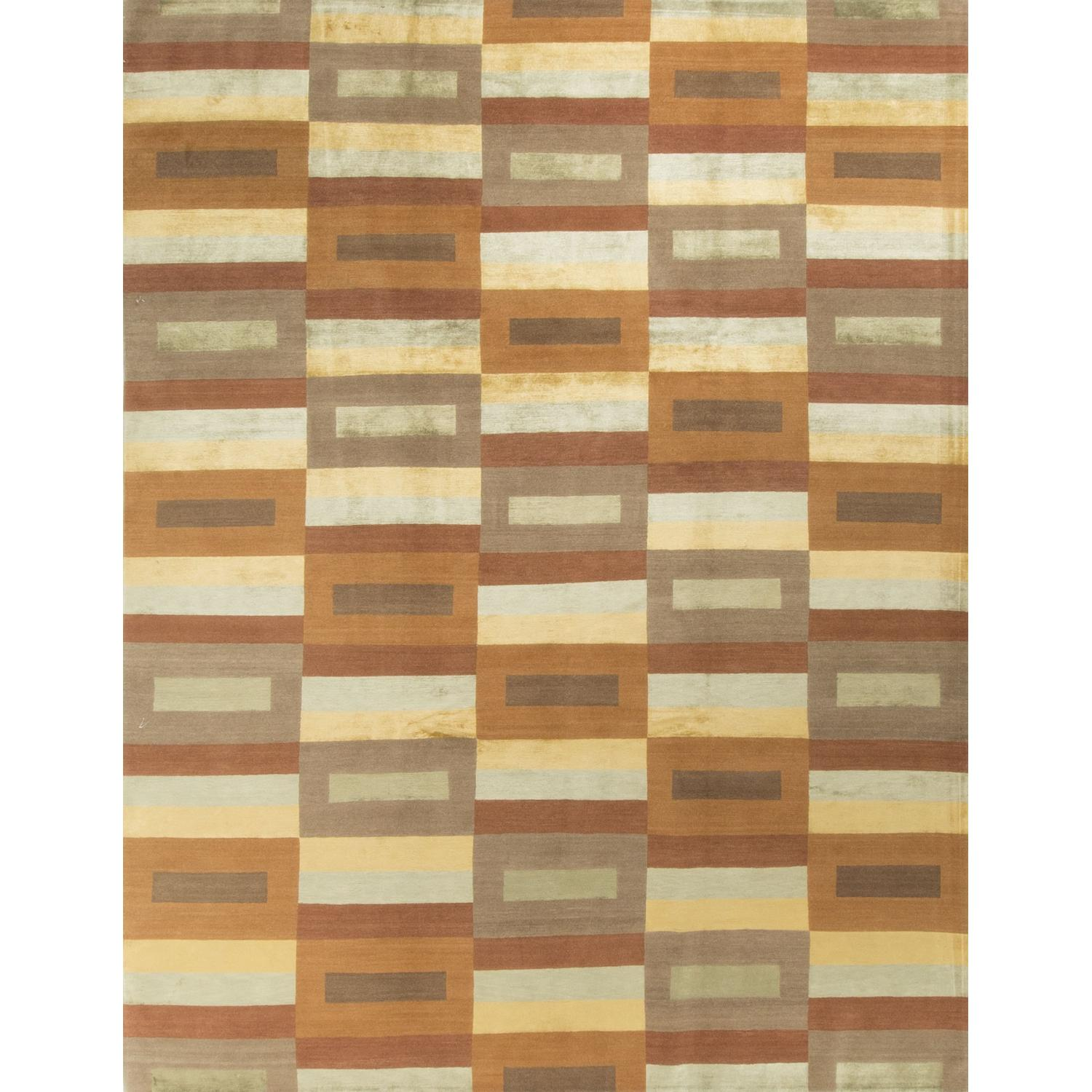 Modern Contemporary Hand Knotted Wool Rug - image-0