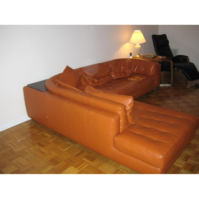 Natuzzi Leather L Shape Couch - image-1