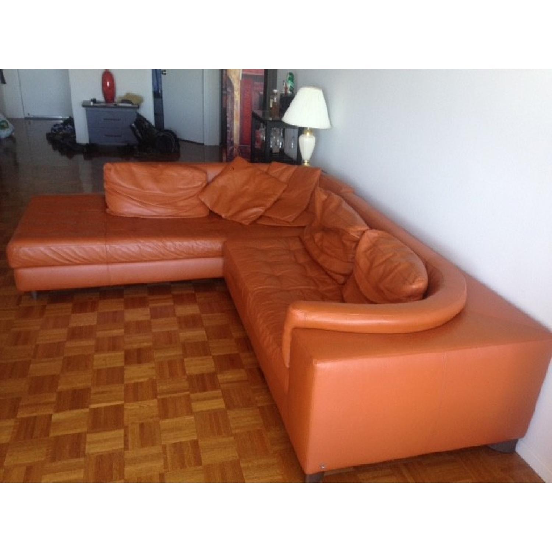 Natuzzi Leather L Shape Couch - image-2