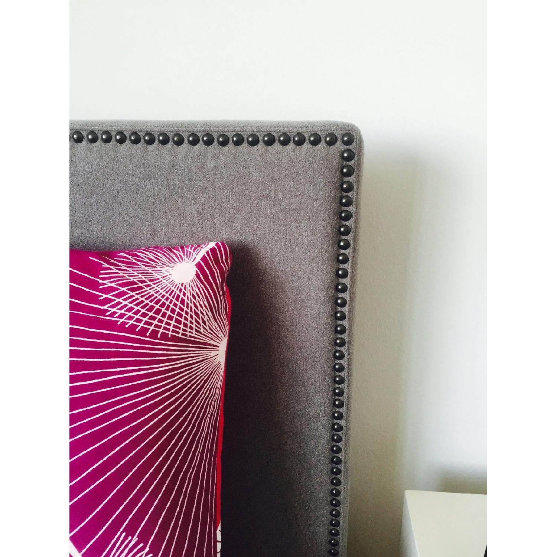 West Elm Nail Upholstered Headboard & Bed Frame - image-2