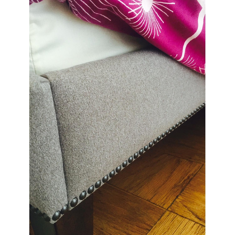 West Elm Nail Upholstered Headboard & Bed Frame - image-3