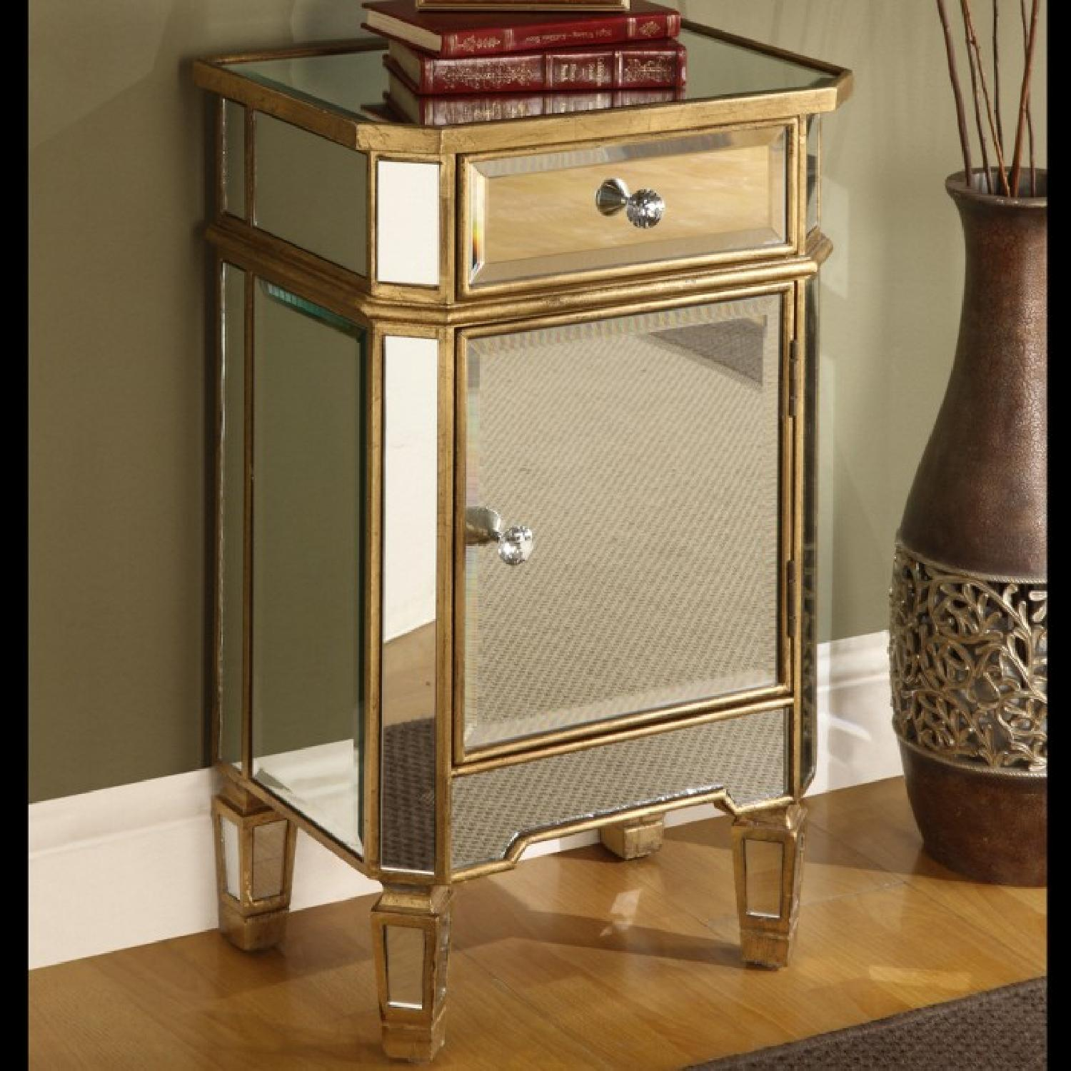 Coast To Coast Imports Accent Mirrored One Drawer Cabinet - image-4