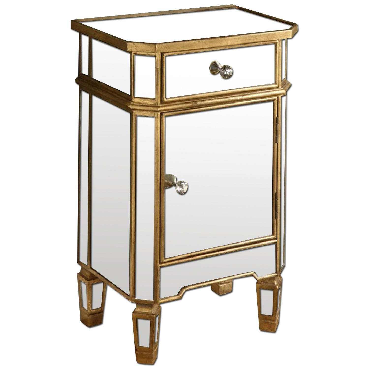 Coast To Coast Imports Accent Mirrored One Drawer Cabinet - image-0