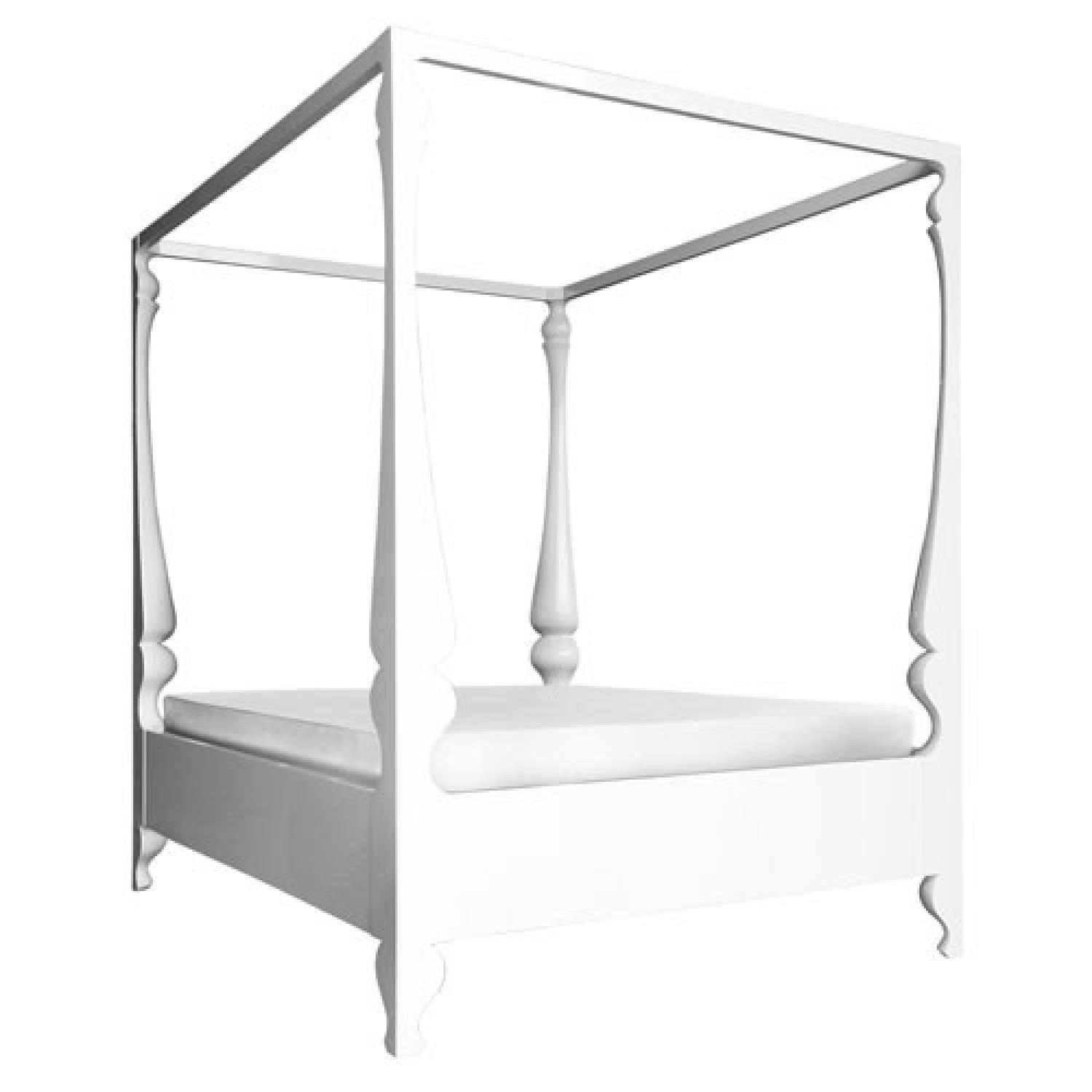 Reeves Design Louis Four Poster King Bed in White - image-7