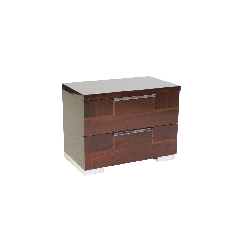Alf Queen Low Profile Sleigh Bed + Dresser w/ Mirror + 2 Nighstands - image-1