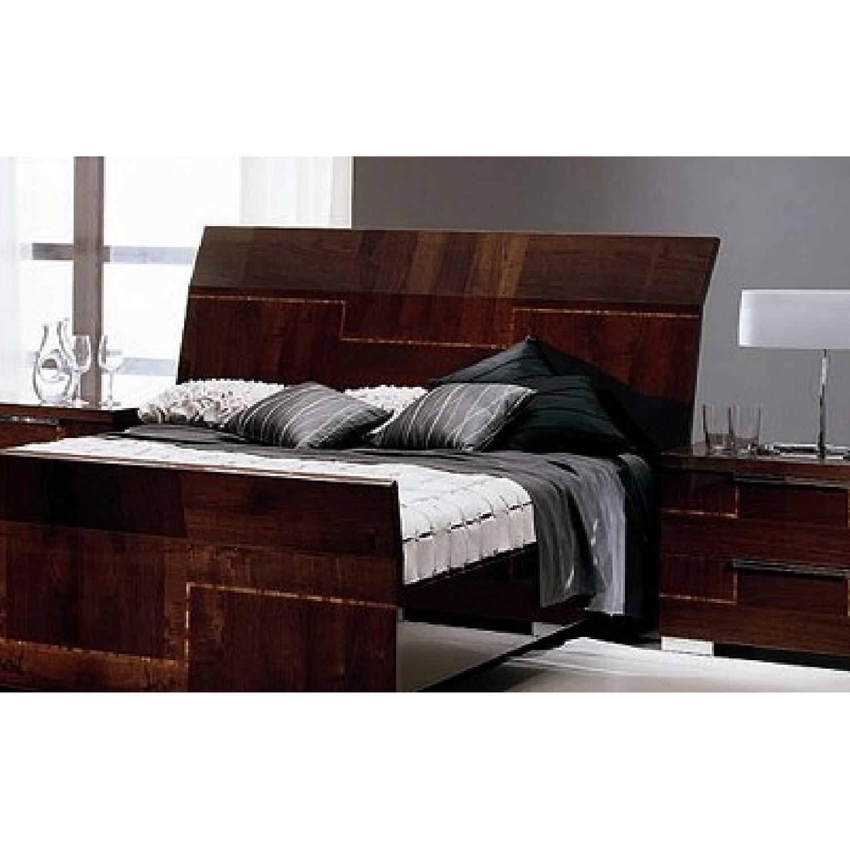 Alf Queen Low Profile Sleigh Bed + Dresser w/ Mirror + 2 Nighstands - image-2