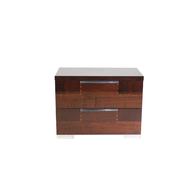 Alf Queen Low Profile Sleigh Bed + Dresser w/ Mirror + 2 Nighstands - image-5