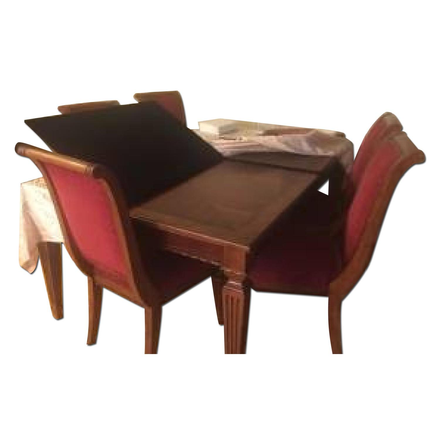 Ethan Allen Townhouse Dining Room Table w/ 6 Chairs - image-0