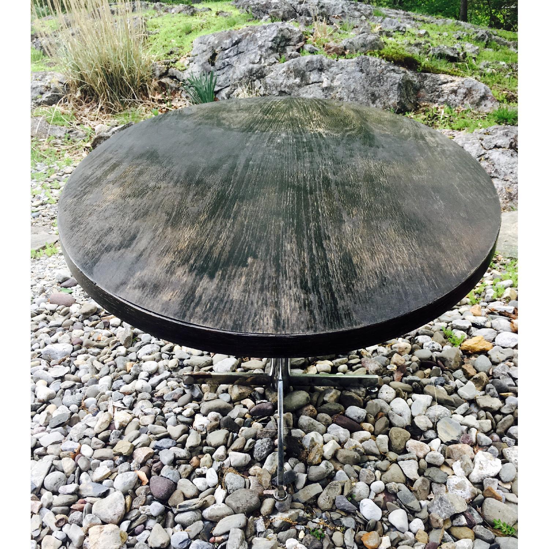 Vintage Distressed Oval Pedestal Table - image-3