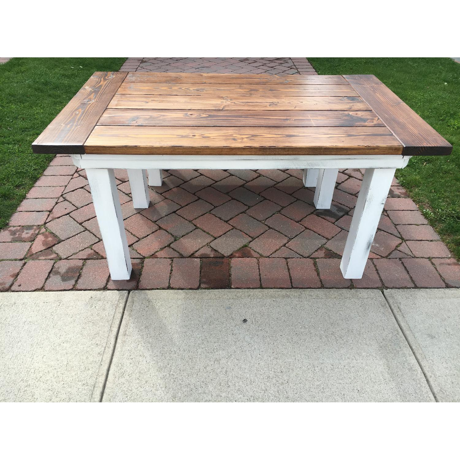 Rustic Farm Table w/ 1 Bench - image-3