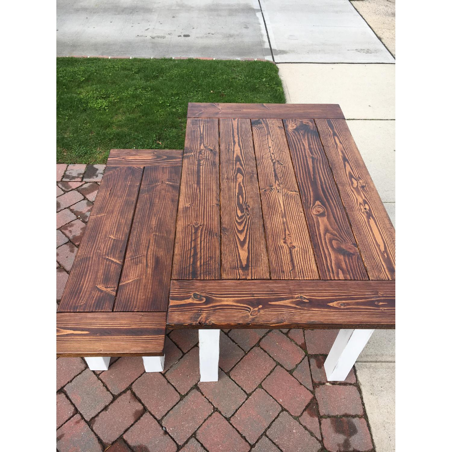 Rustic Farm Table w/ 1 Bench - image-6