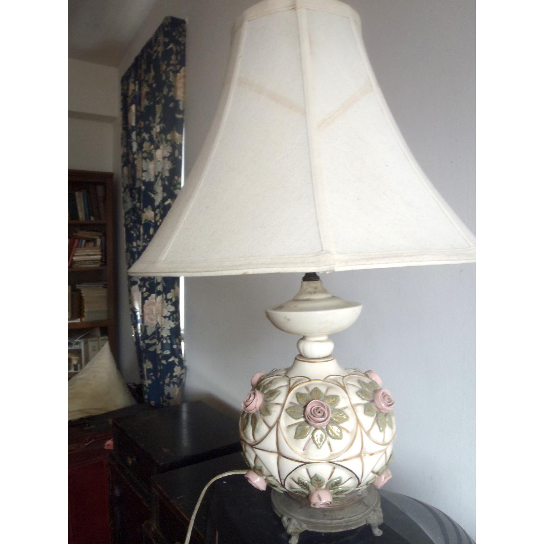 1930's Antique Rosebud Table Lamp - image-1