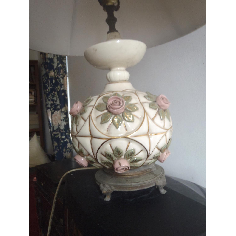 1930's Antique Rosebud Table Lamp - image-2
