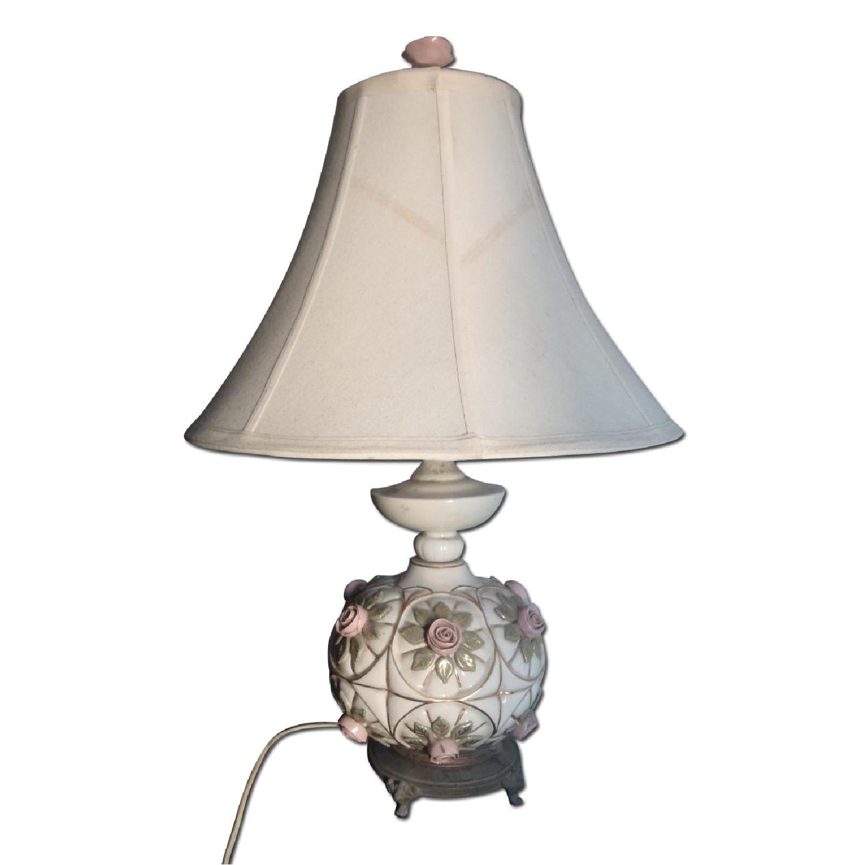 1930's Antique Rosebud Table Lamp - image-0