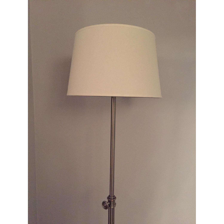Pottery Barn Chelsea Floor Lamp w/ Linen Drum Shade - image-3