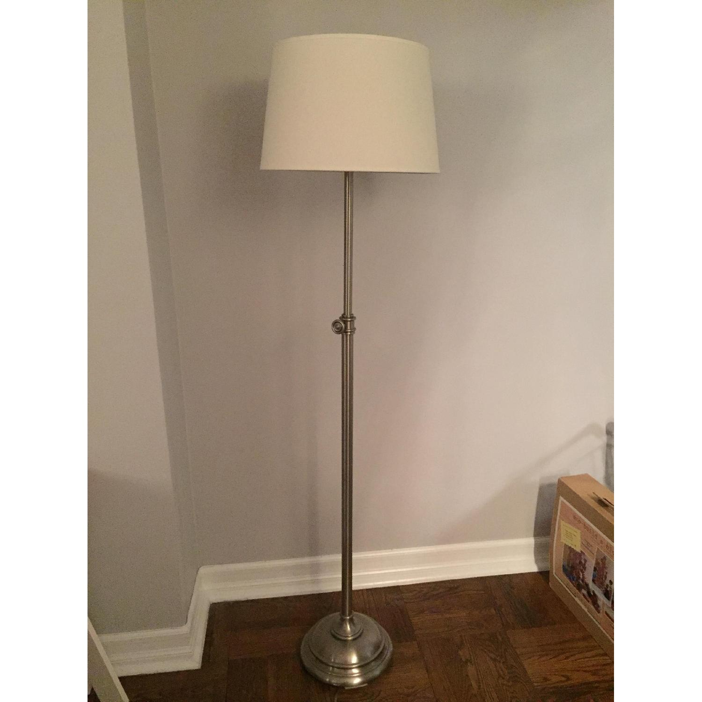 Pottery Barn Chelsea Floor Lamp w/ Linen Drum Shade - image-4