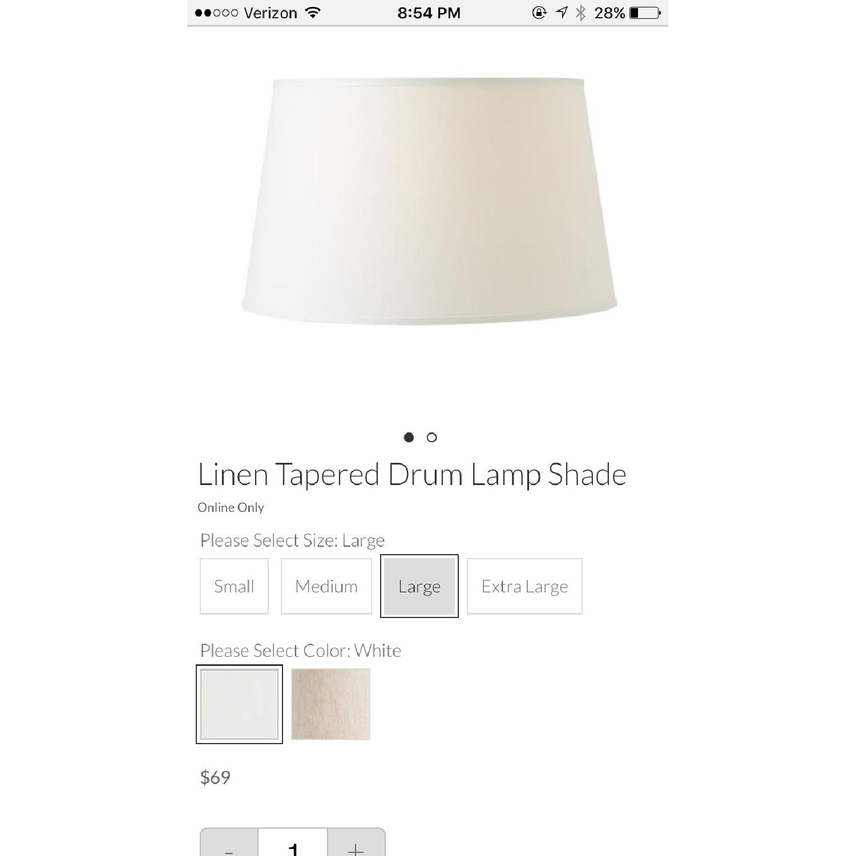 Pottery Barn Chelsea Floor Lamp w/ Linen Drum Shade - image-7
